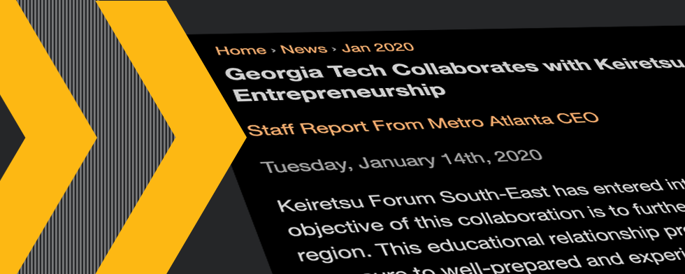 Georgia Tech Collaborates with Keiretsu Forum to Advance Innovation and Entrepreneurship